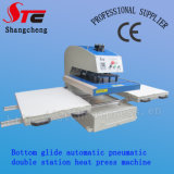 Big 압축 공기를 넣은 Format Double Stationheat Press Machine 60*80cm Automatic Bottom Glide Heat Transfer Machine Hot Sale T Shirt Transfer Printing Machine Stc Qd07