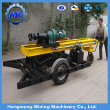 Máquina neumática de la plataforma de perforación de la roca de las ruedas con el compresor de aire