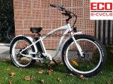 Bicicleta eléctrica de la bici de la batería y de la playa de litio y de la bici de la arena