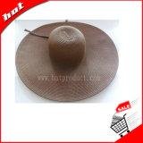 女性の帽子のペーパー帽子の麦わら帽子フロッピィ帽子