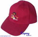 Поставщик бейсбольной кепки Maroon шлема папаа хлопка неструктурированный