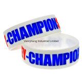 Le logo en gros de promotions personnalisent le bracelet de silicones