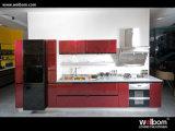 Alto armadio da cucina rosso di lucentezza dalla Cina