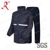 Regenjas van pvc van technologie de Waterdichte, het Kostuum van de Regen (qf-766)