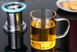 De aangepaste Kop van de Thee van het Glas van de Filter van het Roestvrij staal voor Giften