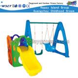 Diapositiva de los niños y equipo plásticos del patio de la combinación del oscilación (HC-16509)