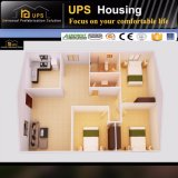 Hogares prefabricados de las casas vivas de tres habitaciones de la familia de la nueva tecnología