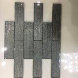 Neueste Kristallbrown-Glasziegelstein-Fliese für Wand-Dekoration (glatte Oberfläche)