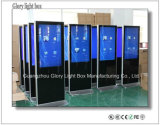 Assoalho interno de 46 polegadas que está o LCD que anuncia o quiosque