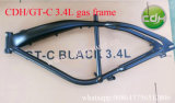 構築される3.4Lガスタンクが付いているGtCバイクフレーム