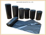 LDPE-Schwarz-Heben-Aufgabeplastikdrawstring-Abfall-Beutel für Sortierfach