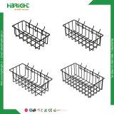 Conjunto de 4 ganchos de leva fácil para arreglar la cesta de alambre de la cesta de Pegboard de los accesorios