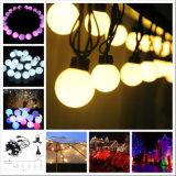 5m 20LEDs 40mm LED 크리스마스 휴일 큰 공 끈 빛