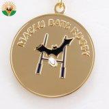 De hete Medaille van het Metaal van het Gouden Plateren van de Verkoop met Aangepast Embleem