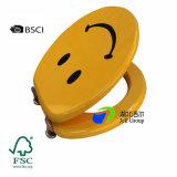 Asiento de tocador de madera verificado Fsc/BSCI de la impresión del fabricante