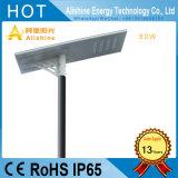 80W LED 마이크로파 레이다 운동 측정기를 가진 태양 가로등 옥외 램프