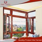 Ventana de mirada de madera del metal/ventana de cristal del perfil de aluminio con la pantalla del insecto