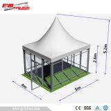 La Carpa Pagoda 5x5m con puerta de vidrio