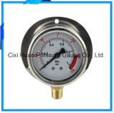 Mètre de pression bordé par qualité d'acier inoxydable