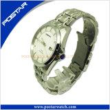 La montre des hommes mécaniques supérieurs d'acier inoxydable avec la bande en acier