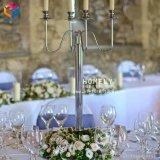 رفاهيّة زخرفيّة بلّوريّة معدن شمعدان يتزوّج طاولة جزء أساسيّ