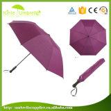 Parapluie promotionnel noir en gros de 2 fois 21inch en Chine