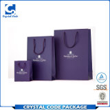 Bolsa de papel de empaquetado impresa aduana de las compras de la alta calidad