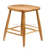 Un style moderne de cendres Tabouret de bar en bois massif chaise (SS-03)