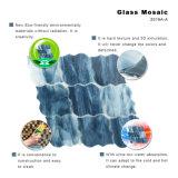 Tuile en verre décorative bleue de mosaïque de configuration d'art pour le mur
