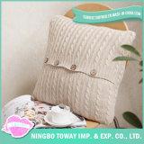 Kundenspezifische Sofathrow-Baumwollentfernbarer gestrickter dekorativer Kissen-Kasten