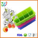 BPA освобождают поднос кубика льда силикона квадрата вискиа 8 полостей с крышкой