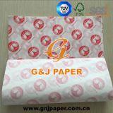Un lado liso y rugoso Greasproof Lado impreso en papel