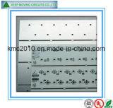 PWB de aluminio del Al de 1.6m m para la tarjeta electrónica de Linghting de la MAZORCA con la máscara blanca de la soldadura