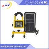 Luz de inundación portable del LED, luz de inundación accionada solar