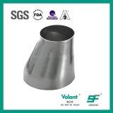 Réducteur soudé excentrique hygiénique d'acier inoxydable d'ajustage de précision de pipe