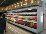 De commerciële Rechte Koeler van de Vertoning voor de Plantaardige Vruchten van de Drank