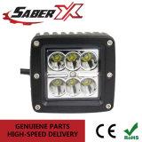 Étanche 3pouce carré de 18W Spot LED pour feux de travail Les véhicules hors route