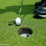 Golf golpea alfombra de césped sintético