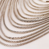 Европейская мода металлические преувеличивают ретро многослойный Tassel свитер цепь цепочка