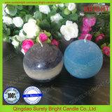 El regalo pila de discos tres colores acodó la vela perfumada de la bola hecha en China