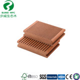 140*25mm WPC Bois Composite Decking solide en plastique