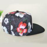 Logotipo personalizado negro bordado en 3D de Poliéster Parte Sombreros Sombreros Snapback
