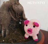 Malha de mão brinquedos bonecas, Amigurumi veados, tricô artesanal ostentar