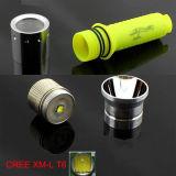 10With 300lumens CREE T6 Tauchens-Taschenlampe des Tauchens-LED (POPPAS-F98)