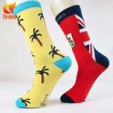 Kundenspezifische Baumwolljacquardwebstuhl-Socke in den verschiedenen Entwürfen und in den Größen