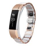 Soem-Edelstahl bördelt niedrige MOQ Bänder der Uhrenarmband-für Fitbit Alta