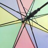 Красочные Нескладывающееся Poe прямой Rainshade прозрачных смешные зонтик
