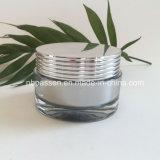 tarro cosmético de acrílico 50g con el casquillo de plata brillante (PPC-NEW-132)