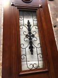 Porte en bois de double entrée avant en bois solide pour la villa (GSP1-030)