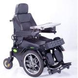Luxus, der Rollstuhl für behindertes im Freien oben stehend stützt